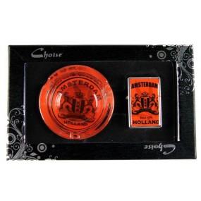 Набор Пепельница с зажигалкой Orange Amsterdam